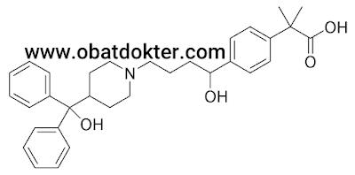 struktur-molekul-fexofenadine-obat-antihistamin