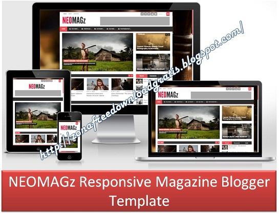 download neomagz responsive magazine blogger template 2016 blogger template. Black Bedroom Furniture Sets. Home Design Ideas