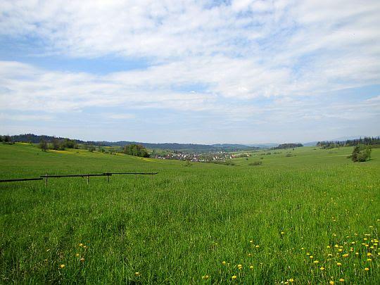 Widok na wieś Podsarnie.