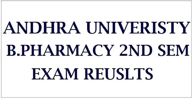 AU B.Pharmacy 2nd Semister Exam Results April 2018