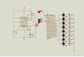 Shift registers 74LS164 Schematic Circuit