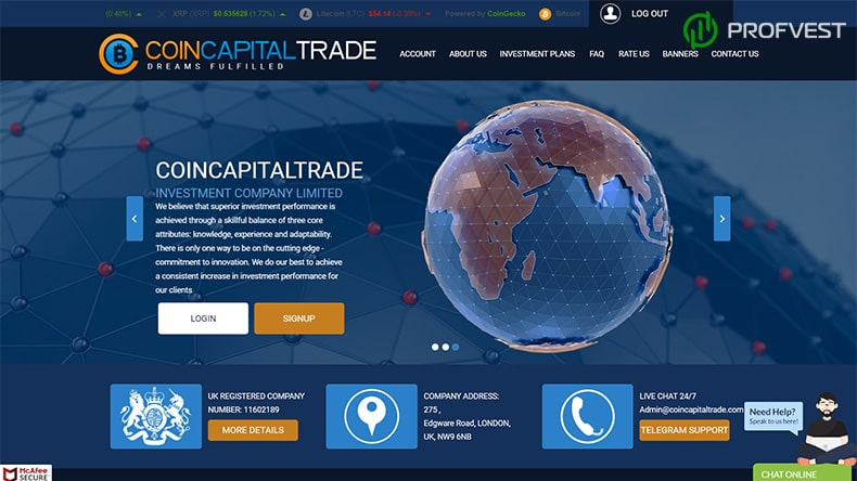 CoinCapitalTrade обзор и отзывы HYIP-проекта