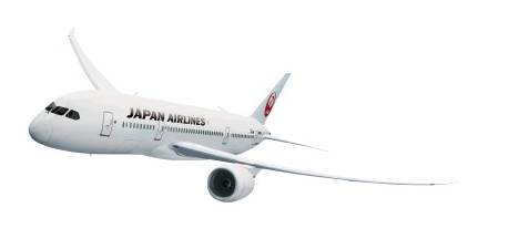 JAL 787 with new livery