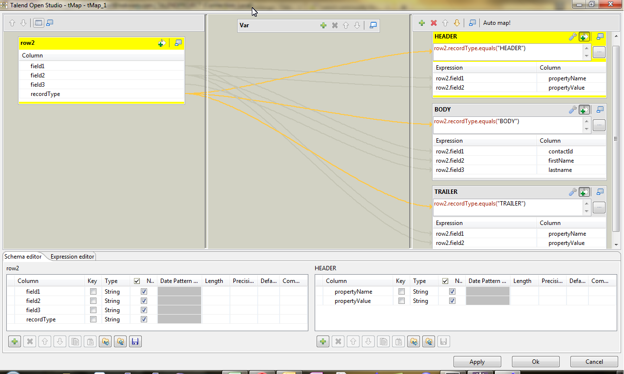 Processing Files with Headers and Footers using Talend - BDD