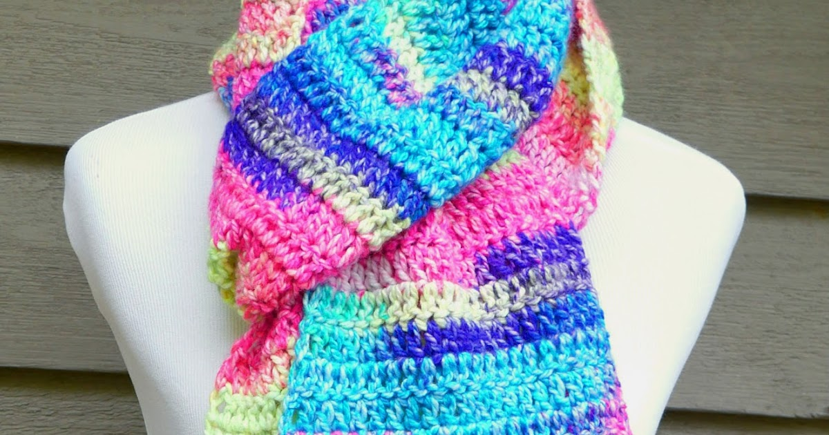 Items similar to Crochet Scarf Pattern, Crochet Beginner ...  |Beginning Crochet Scarf Pattern