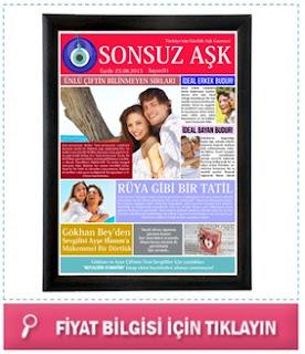 Kişiye Özel Aşk Gazetesi