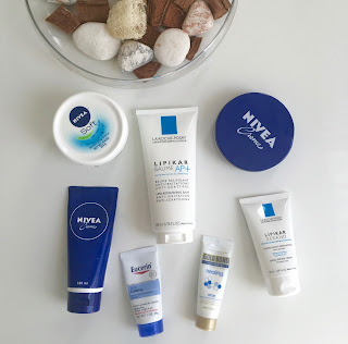 surviving winter in europe with dry skin nivea la roche posay gold bond eucerin