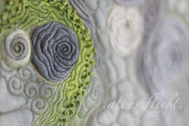 Free motion Quilting Jacqueline Heinz Textilkunst textiler Wandbehang