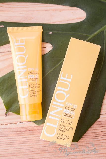Protección solar con Clinique: Anti-Wrinkle Face Cream y Virtu-Oil Body Mist
