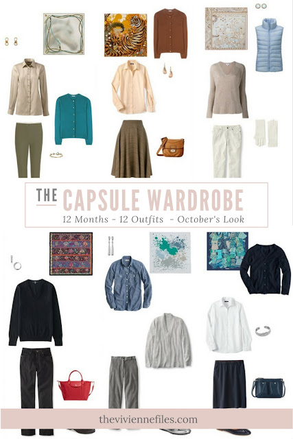 12 capsule wardrobe outfits for 12 months