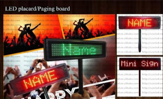 led lights, led sign,Hot! Customization logo supporting multilines hand holding or strips Airport/train/bus station LED placard displays