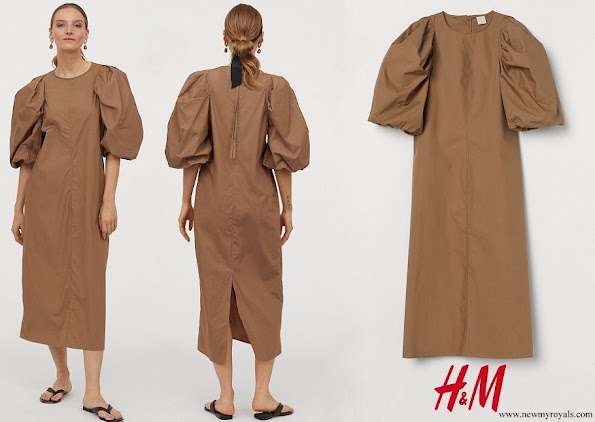 Queen Maxima- wore H&M Balloon-sleeved Dress