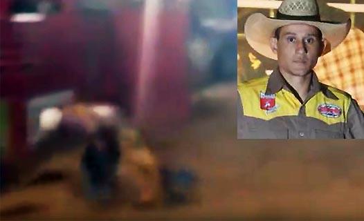 Veja vídeo  Peão morre após ser pisoteado por touro durante festa de rodeio  em Mato Grosso. cd34ab7ae4b