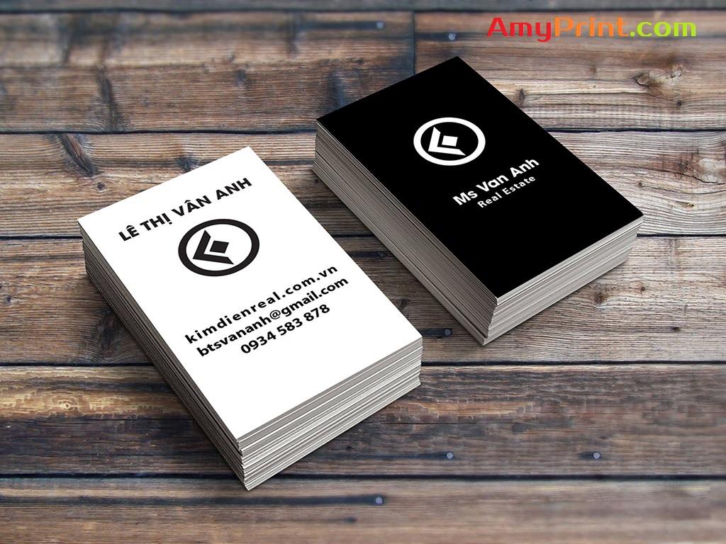 In nhanh card visit rẻ đẹp, thiết kế sang trọng chuyên nghiệp Vân Anh
