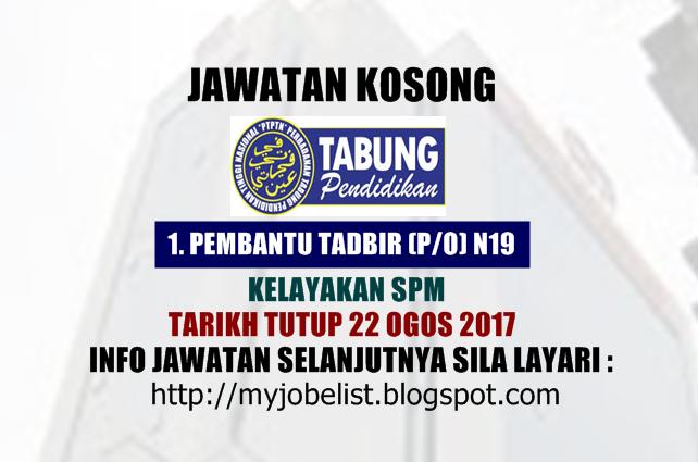 Jawatan KosongTerkini di PTPTN Ogos 2017