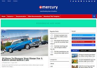 Mercury Blogger Template