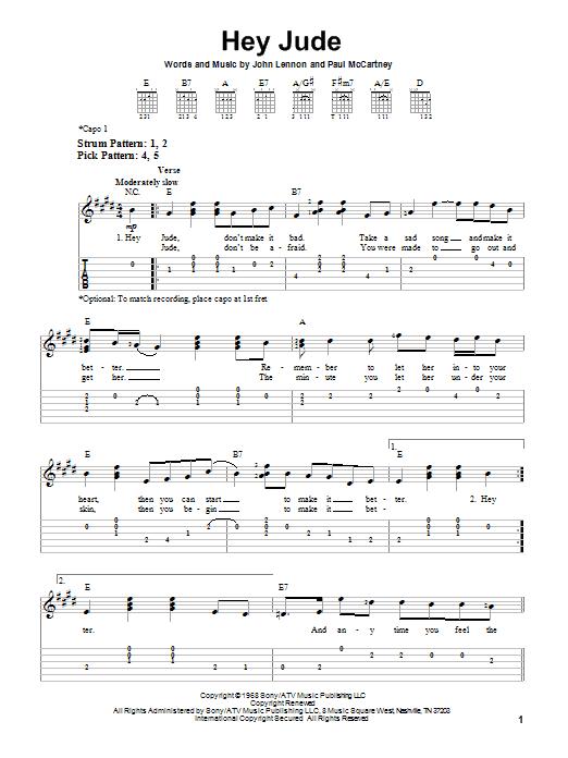 Luxury Hey Jude Chords Ukulele Model - Beginner Guitar Piano Chords ...