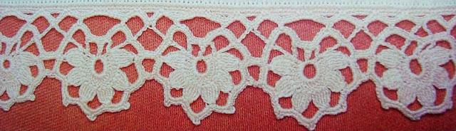Patrón #1567: Encaje a Crochet.