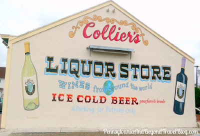 Collier's Liquor Store Wall Mural in Cape May, New Jersey