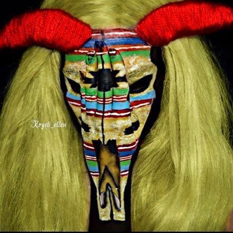 11-Western-Skull-Krysti-Ellen-Body-Painting-Face-plus-a-Hand-www-designstack-co
