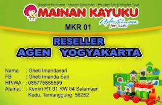 Reseller Mainan Kayuku Yogyakarta Gheti