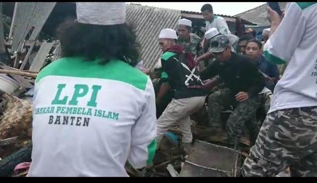 FPI Bikin 'Ulah' kepada Korban Tsunami Banten & Lampung Selatan