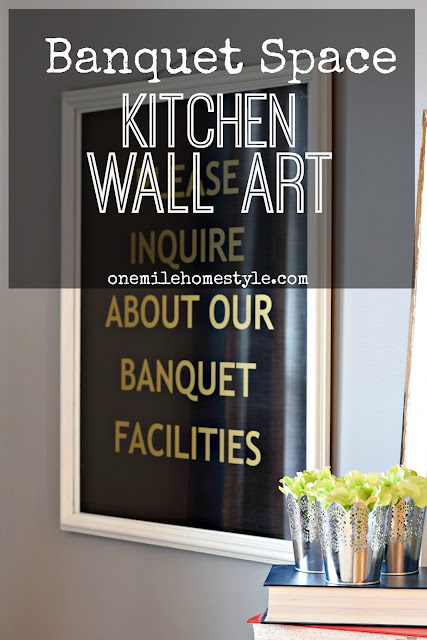 Not your usual kitchen art! Fun banquet space art for any kitchen. - One Mile Home Style