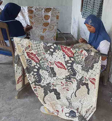 Jual kain Seragam batik murah dengan tehnik canting tulis asli