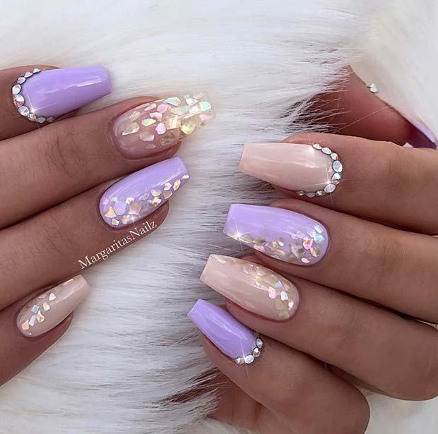 21 Elegant Nail Art Ideas For Coffin Nails To Try This Weekend