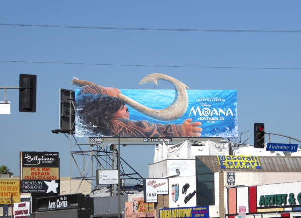 Disney Moana movie billboard