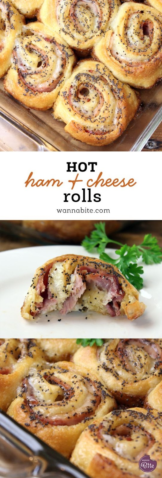 Hot Ham and Cheese Rolls