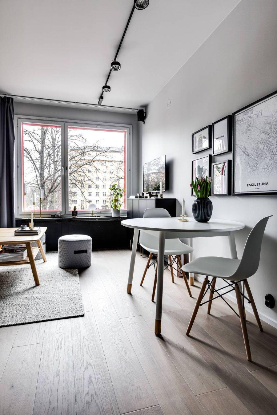 W męskim charakterze - wystrój wnętrz, wnętrza, urządzanie mieszkania, dom, home decor, dekoracje, aranżacje, szary, szarości, grey, małe mieszkanie, styl nowoczesny, styl skandynawski, modern style, scandinavian style
