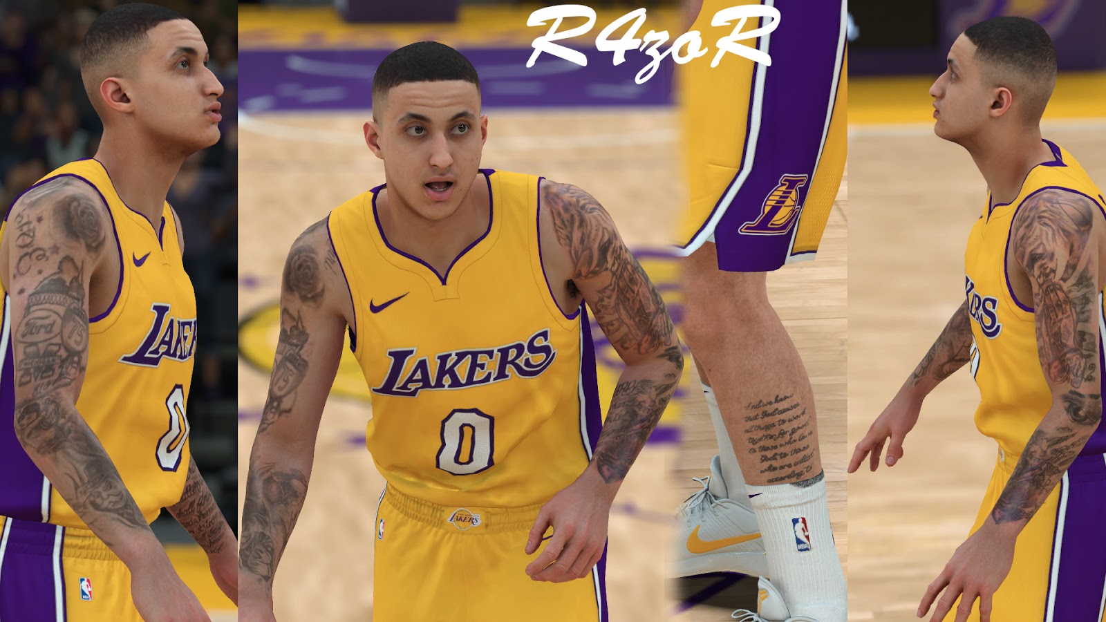 DNA Of Basketball | DNAOBB: NBA 2K18 Kyle Kuzma's tattoos ...