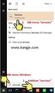 Langkah 1 Cara Disable Windows Update Windows 10 Service Wuauserv