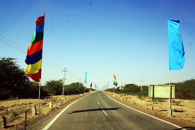 Rann of Kutch, White Desert, Gujarat, entrance, colorful, flags, rann utsav