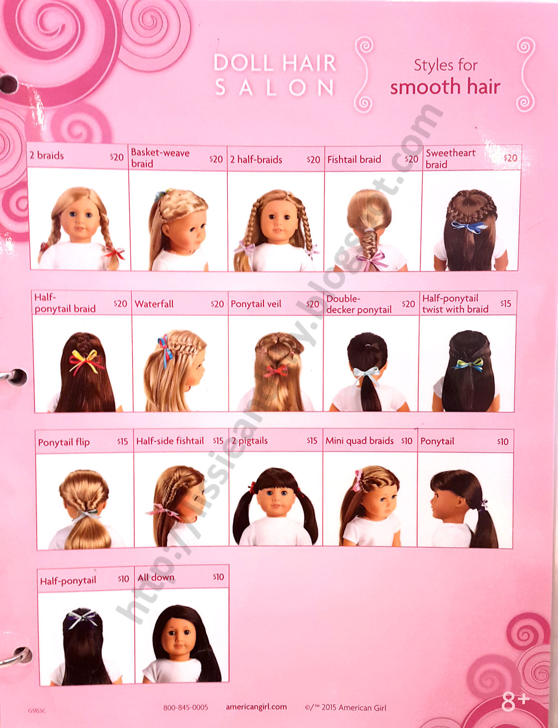 American girl hair style book