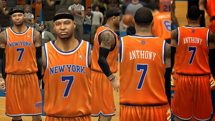 cheap for discount 141d1 00cb9 NBA 2K14 New York Knicks Jersey Pack V2 - NBA2K.ORG