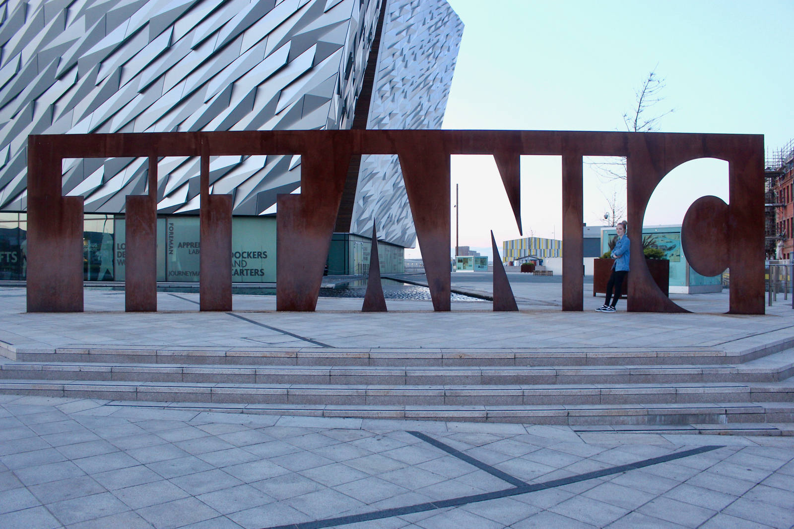 things to do in belfast, titanic belfast, titanic exhibition centre Belfast, what to do in Belfast, visit Belfast, Belfast blog, Belfast blogger, tourism Belfast, northern ireland tourism, titanic quarter Belfast, travel blog belfast, titanic sign belfast