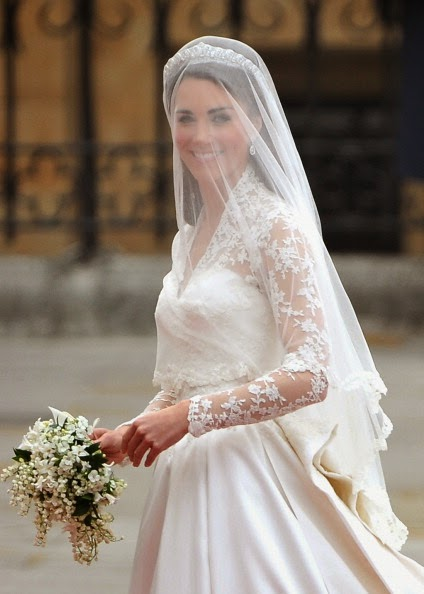 Kate Middleton With Lily Of The Valley Bouquet