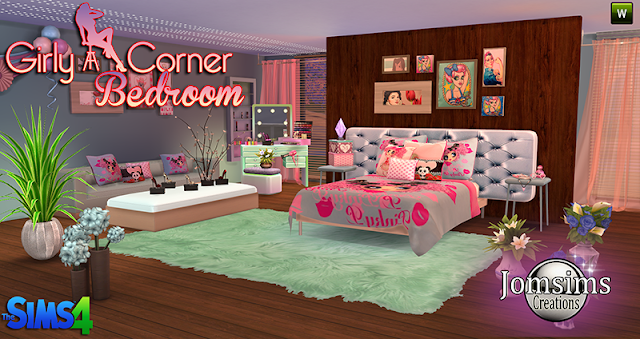 Sims 4 Cc 39 S The Best Girly Corner Bedroom Set By Jomsims