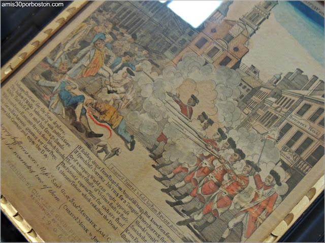 Ilustración de Paul Revere de la Masacre de Boston