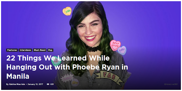 22 Things We Learned While Hanging Out with Phoebe Ryan in Manila