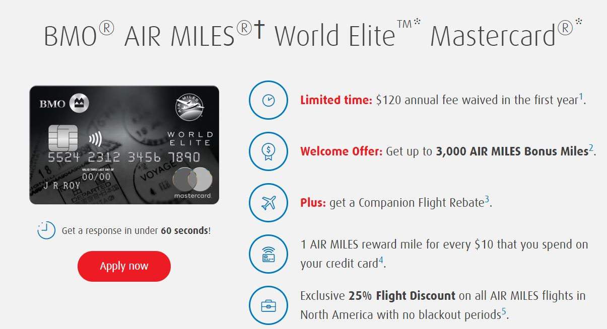Bmo air miles world elite mastercard now has historically high bmo air miles world elite mastercard now has historically high offer reheart Image collections