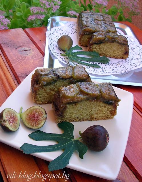 Обърнат кейк със смокини