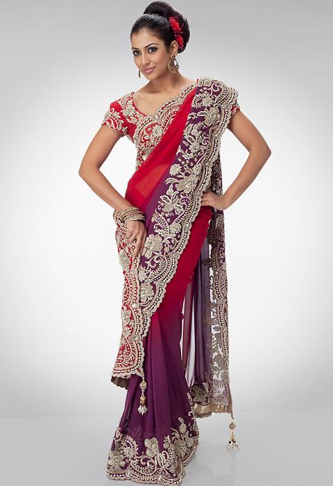 desain sari india modern
