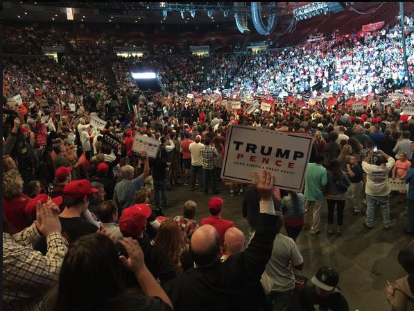 Doing advance work 10000 rally for trump in cincinnati ohio at us above 101316 trump rally in cincinnati trump on clinton she believes in global government and unlimited immigration publicscrutiny Image collections