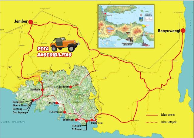 Peta Taman Nasional Meru Betiri