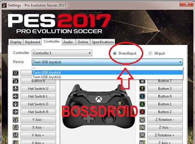 DirecInput Controller PES 2017