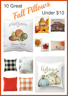 Vintage, Paint and more... 10 great fall pillows for under $10