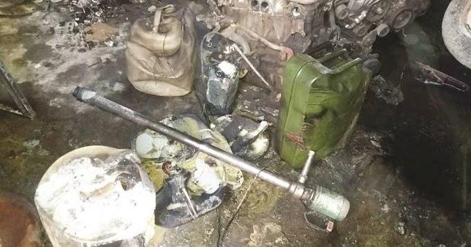 PETROL DRUM EXPLODES KILLING MECHANIC